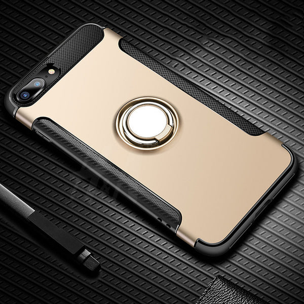 Luxury Metallic Case For iPhone with Kickstand
