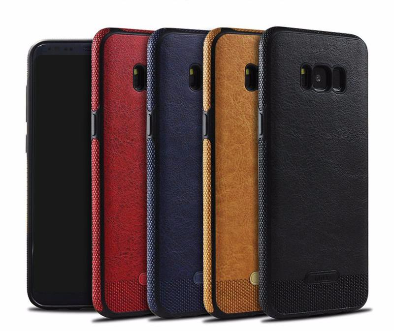 Refined Samsung Galaxy S6/S6 Edge/S7/S7 Edge/S8/S8 Plus PU Leather Case