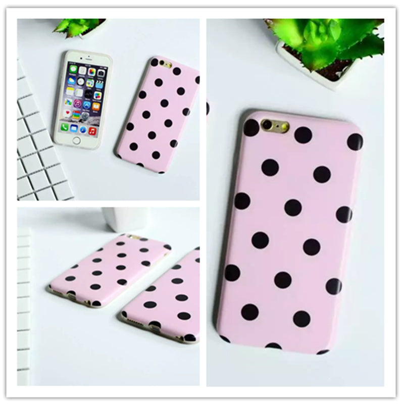 Pink Black Dot Case for iPhone 6/ 6s/ 6s Plus/ 6 Plus/ 7/ 7 Plus/ 8/ 8 Plus