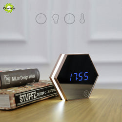 Electronic Multifunction LED Night Light Mirror Alarm Clock