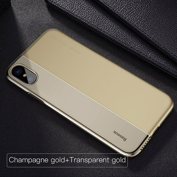 Luxury Double Colour Plastic Back Cover Case for iPhone X