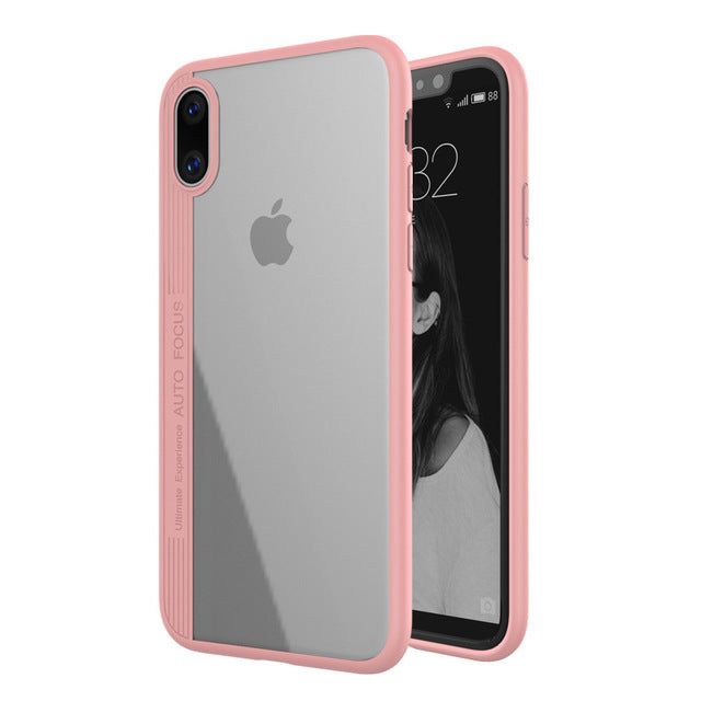 Transparent Soft Silicone iPhone X Case