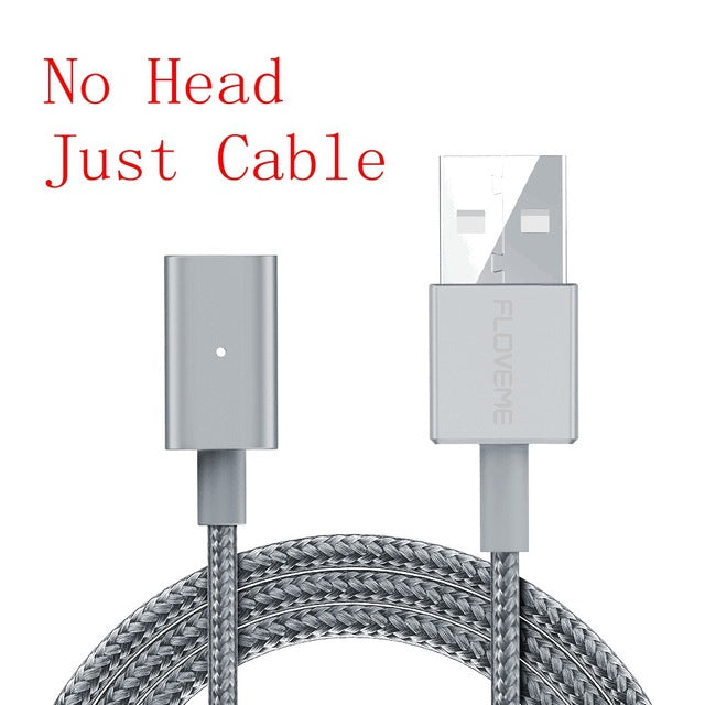 Magnetic Charging Cable For iPhone to Lighting/Micro USB/Type C