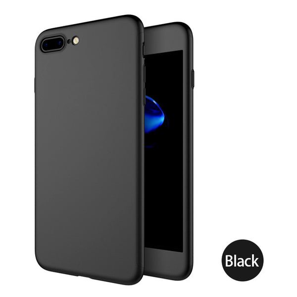 Protective Hard Plastic iPhone X Case with Tempered Glass