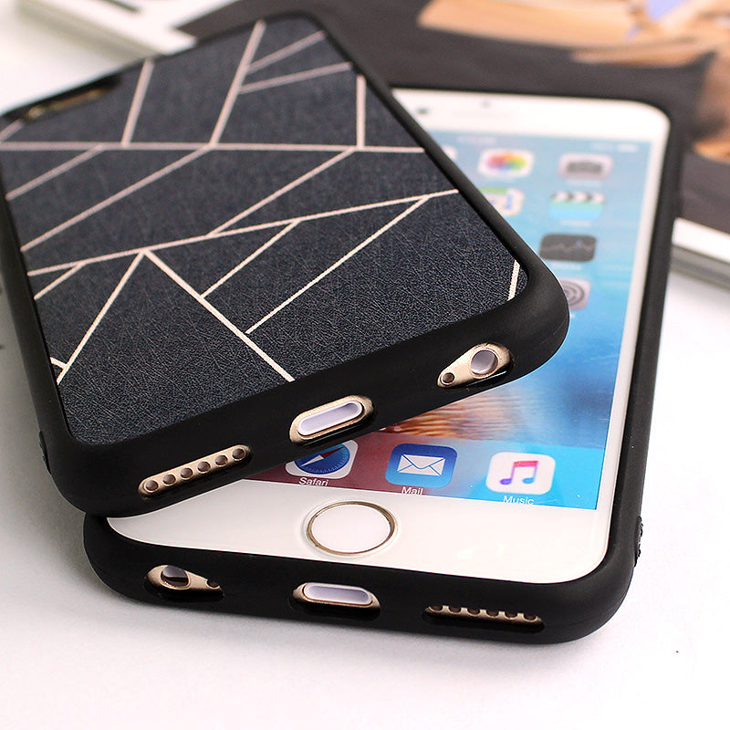 Geometric Soft Silicone Case for iPhone