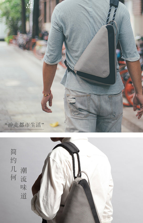 Fashionable Cotton Chest/Shoulder Bag for Men