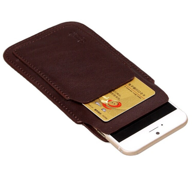 Genuine Cow Leather iPhone Case with Front Card Slot