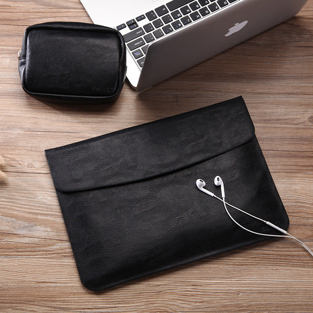 Slim Waterproof PU Leather Macbook Air Case