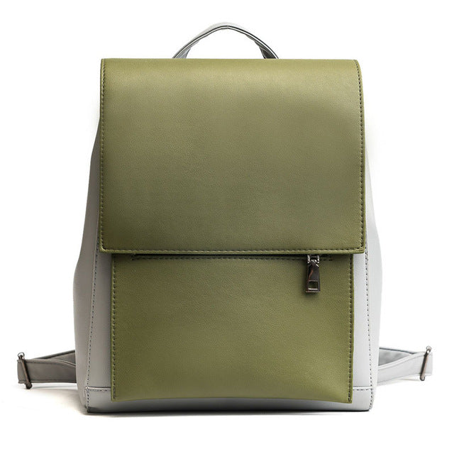 PU Leather Minimal Vintage Backpack