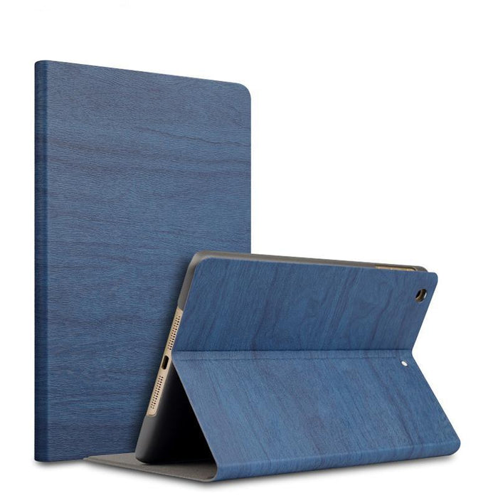 Smart Wood Grain Leather Case for iPad