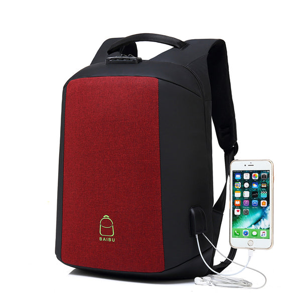 Luxury Anti-theft Backpack with External USB