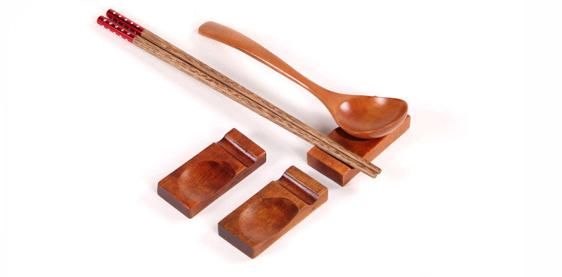 Wooden Chopstick & Spoon Rest