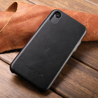 Elegant Genuine Leather Case for iPhone X