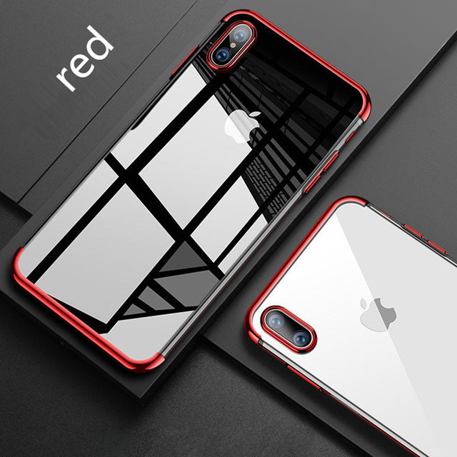 Luxury Ultra Transparent Thin Silicone Case For iPhone
