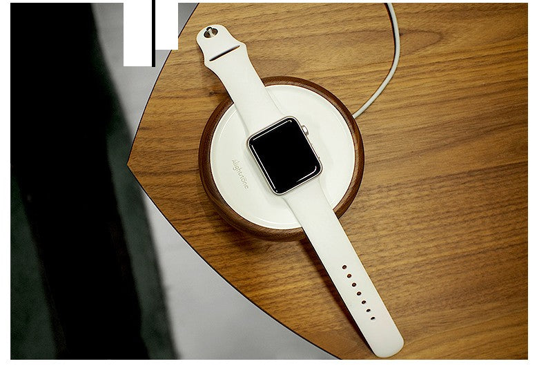 Natural Wood Charging Dock for Apple Watch