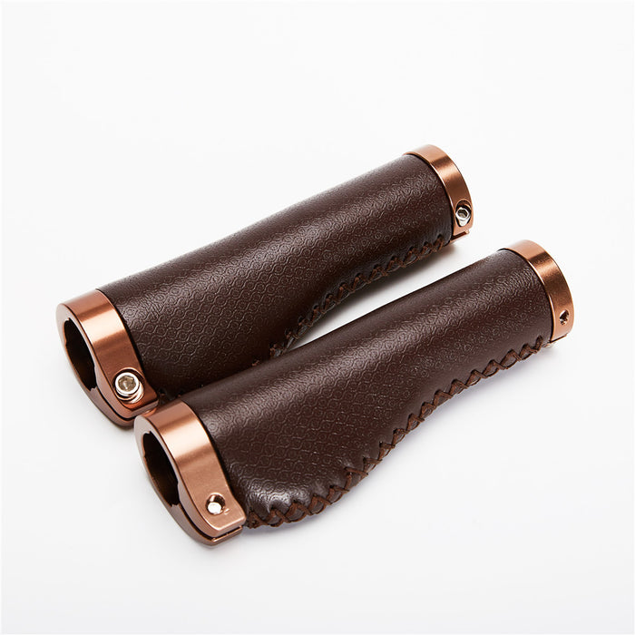 Vintage Leather Bike Grips