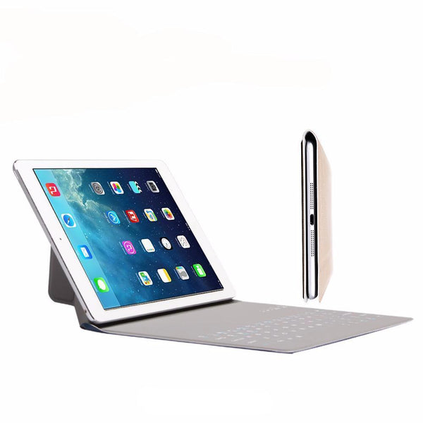 PU Leather Case-Ultra Thin Wireless Bluetooth Keyboard for iPad Air