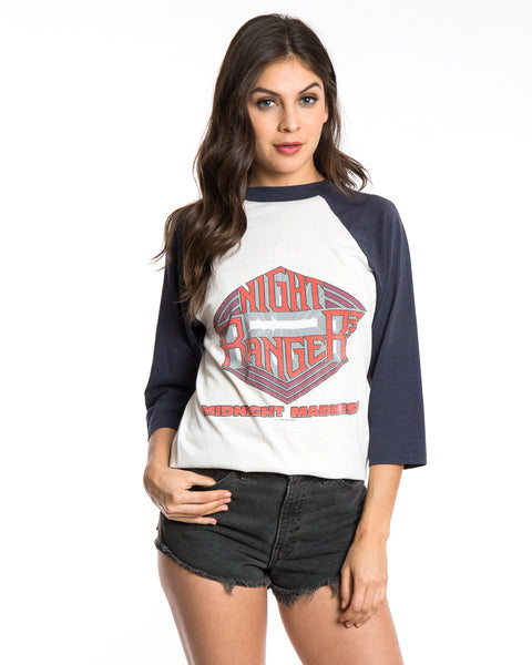 1984 NIGHT RANGER MIDNIGHT MADNESS BASEBALL TEE