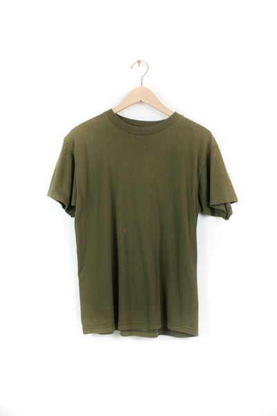 ARMY GREEN SOLID TEE