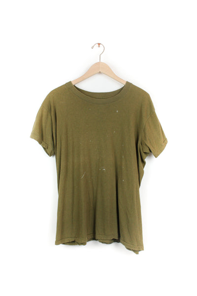 ARMY GREEN SOLID TEE 2