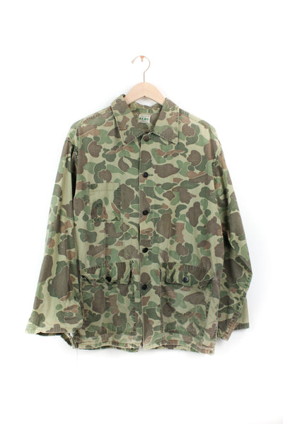 CAMO ARMY BUTTON DOWN JACKET