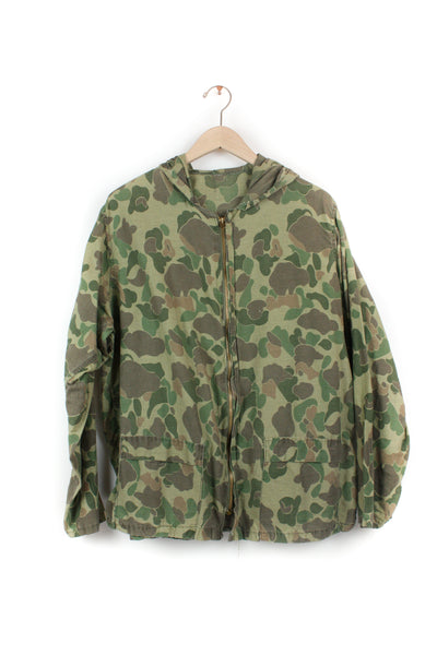 CAMO ARMY ZIP UP JACKET WITH HOOD