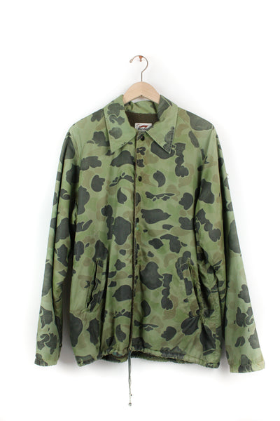 CAMO ARMY FLEECE LINED JACKET