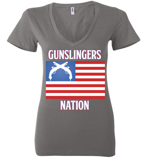 Gunslingers Flag-V Neck