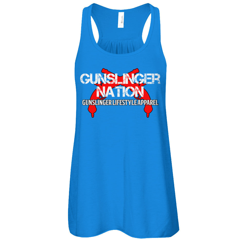 Womens Racerback Gunslinger Nation