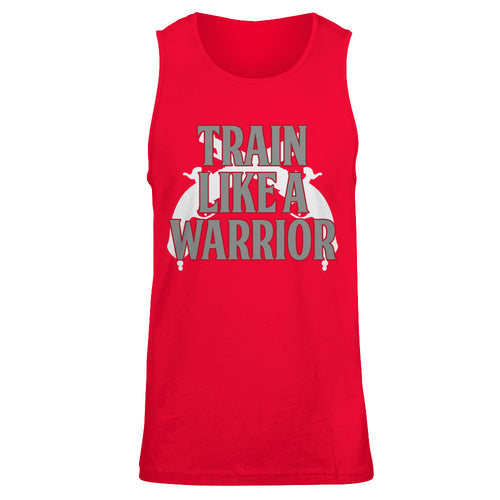 Train Like a Warrior Red-Mens Tank