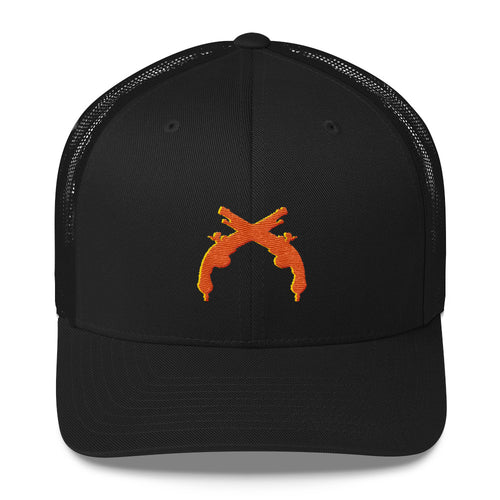 Trucker Cap Orange and Gold