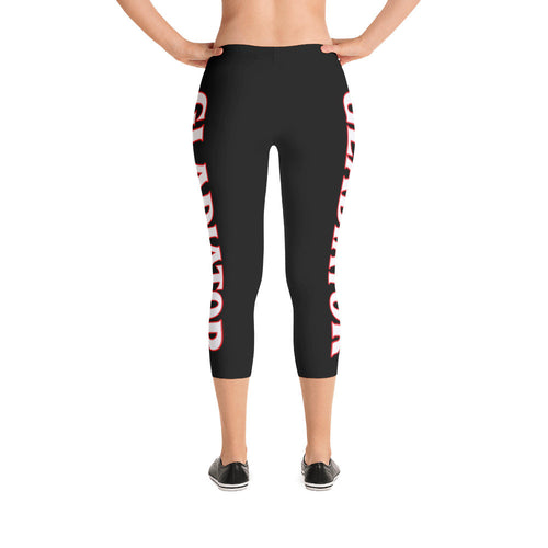 Black Gladiator Capri Leggings