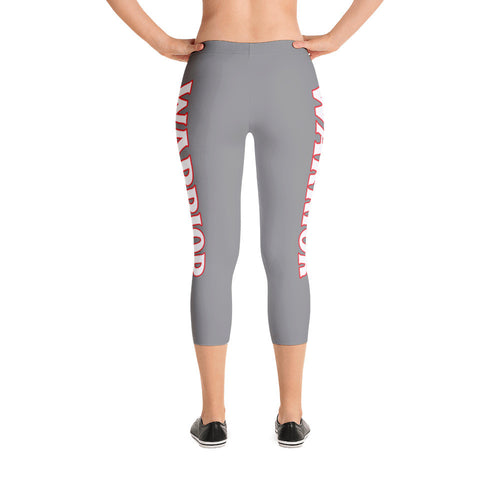 Silver Warrior Capri Leggings