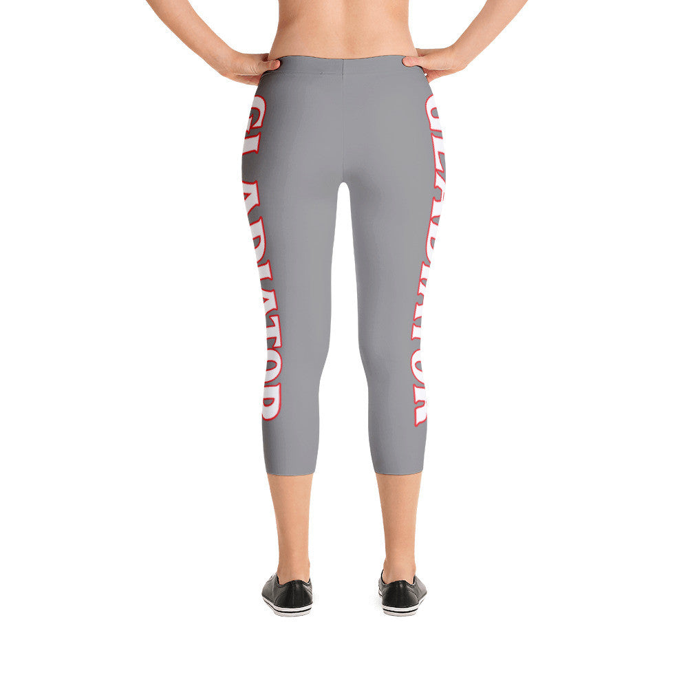 Silver Gladiator Capri Leggings