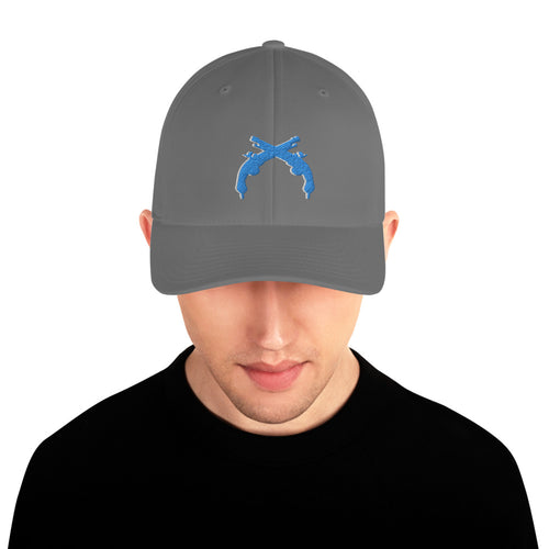 Aqua and White Flexfit Hat