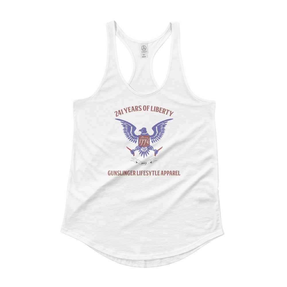 Ladies' Shirttail 4th of July Tank