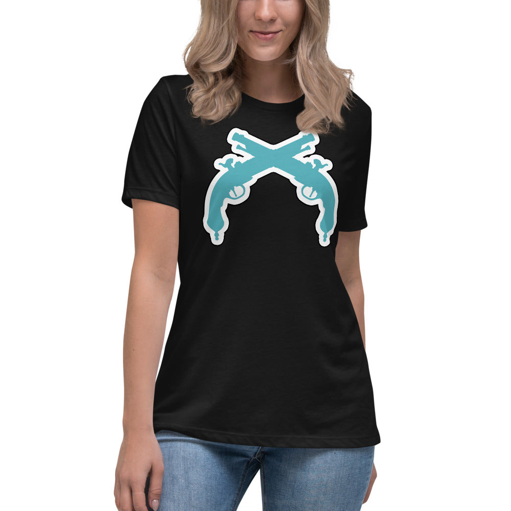 Women's Relaxed Turquoise Guns