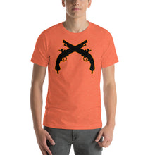 Short-Sleeve Unisex Cowboy Orange Guns