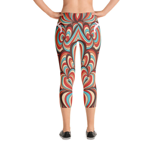 Ribbons Capri Leggings