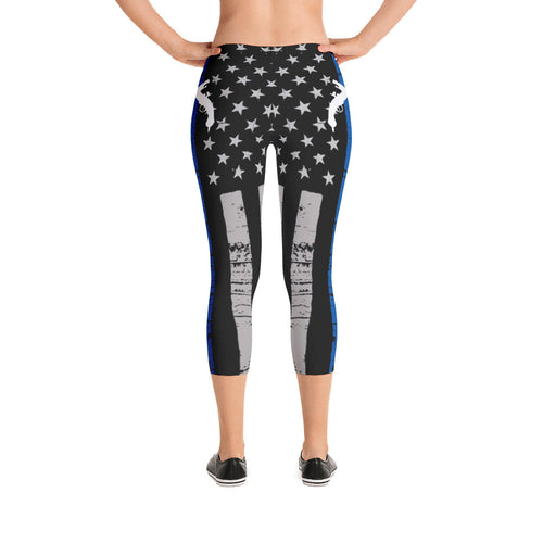 Blue Line Capri Leggings