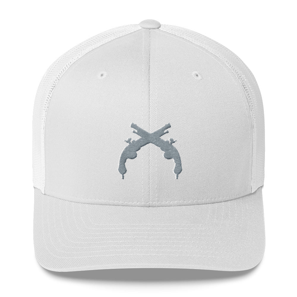 Trucker Cap Silver and White