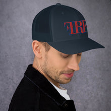 Blue and Red Trucker Cap