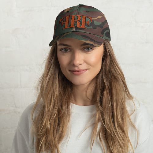 Unstructured Orange and Black Hat