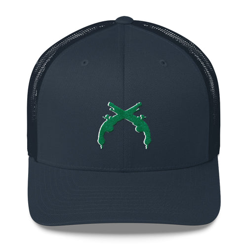 Trucker Cap Green and White