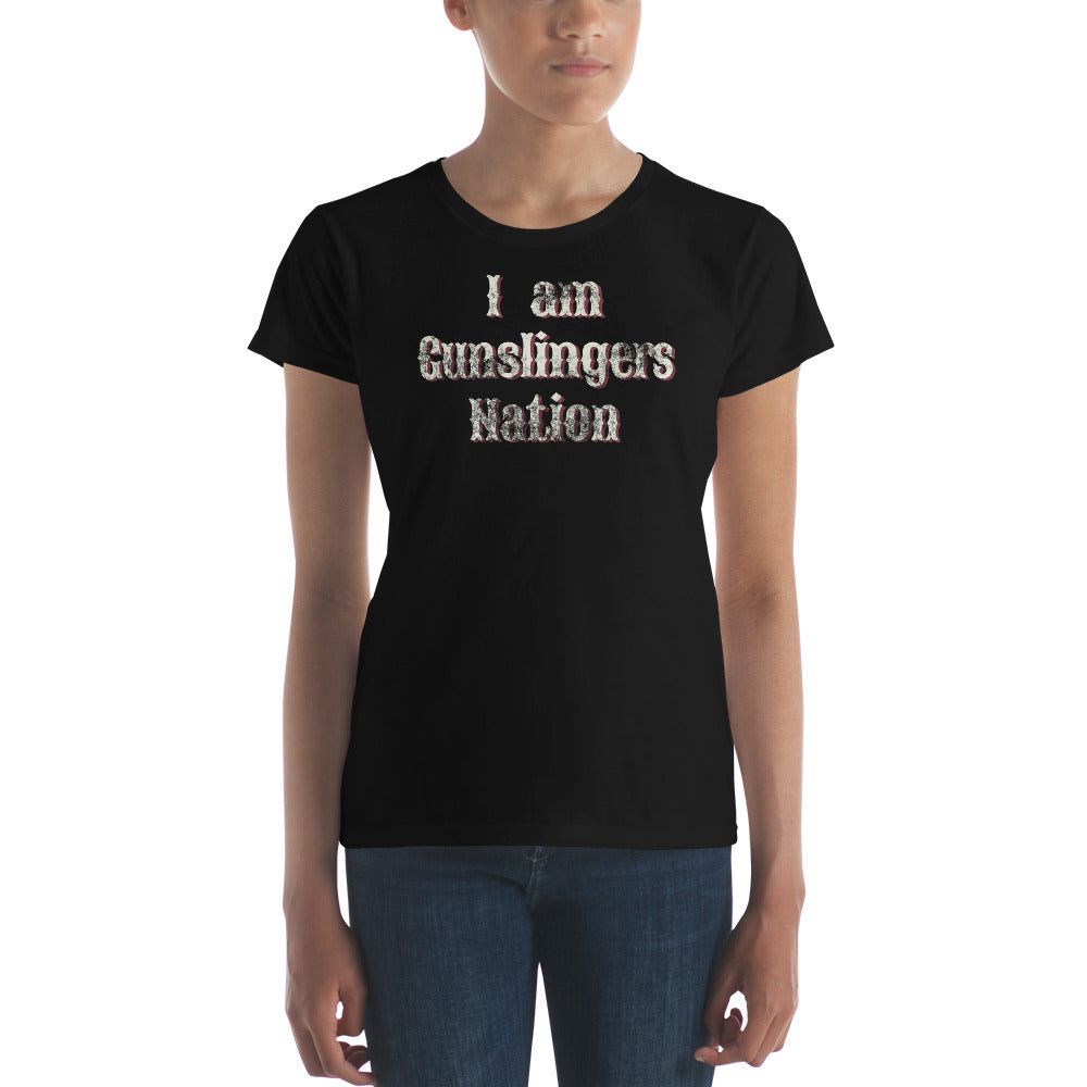 I am Gunslngers Nation Charity Tee-Womens