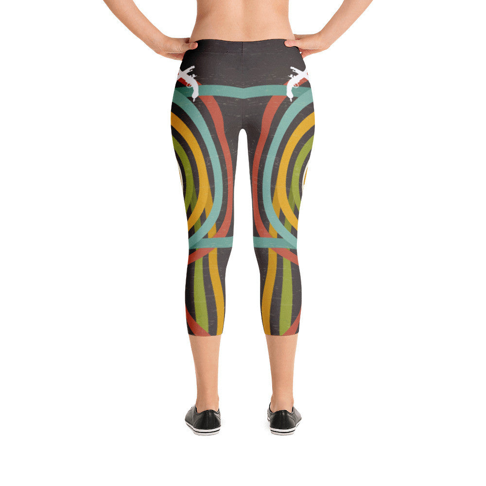 Green Cirlce Capri Leggings