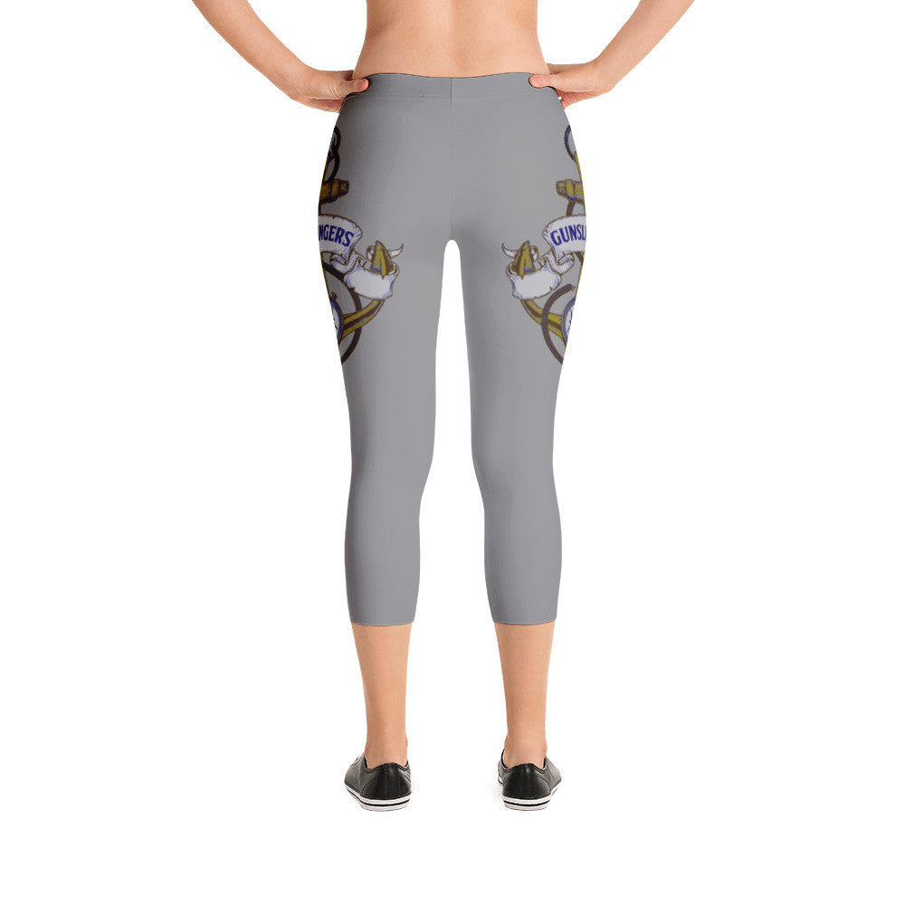Silver Anchor Capri Leggings