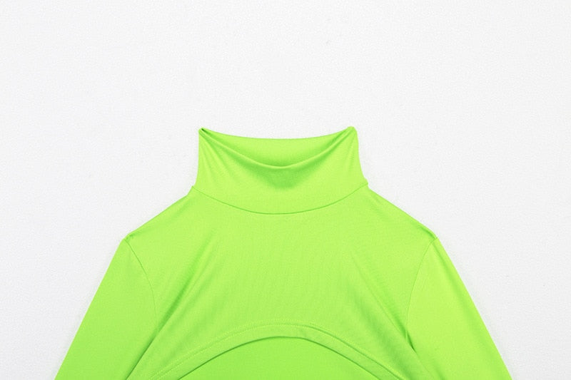 Neon Turtle Shrug Sleeve Top