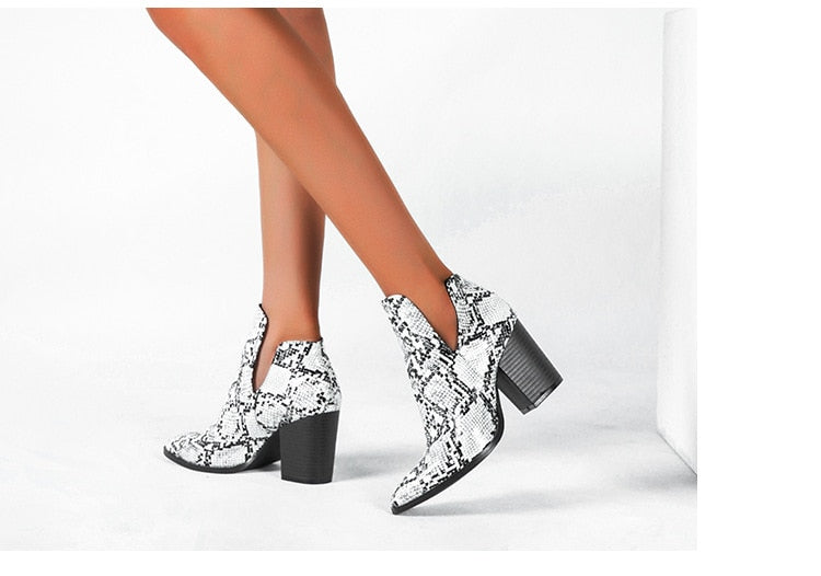 Serpent Ankle Booties