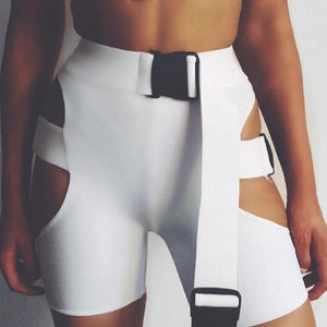 Side Chick Buckle Bike Shorts